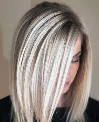 موی رنگی سفید اسخوانی ۳