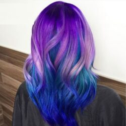 رنگ مو رنگ آبی نفتی گلدن رین ۵۵